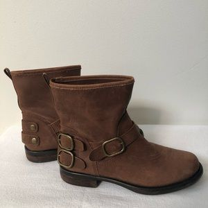 Lucky brand Brown Leather Ankle Boots Sz 7.5